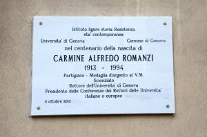 Targa in ricordo di Carmine Alfredo Romanzi_ scoprimento