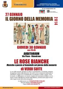 Manifesto Le rose bianche