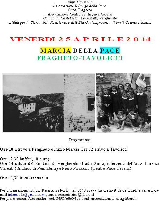 marcia pace 25 aprile 2014 Fragheto