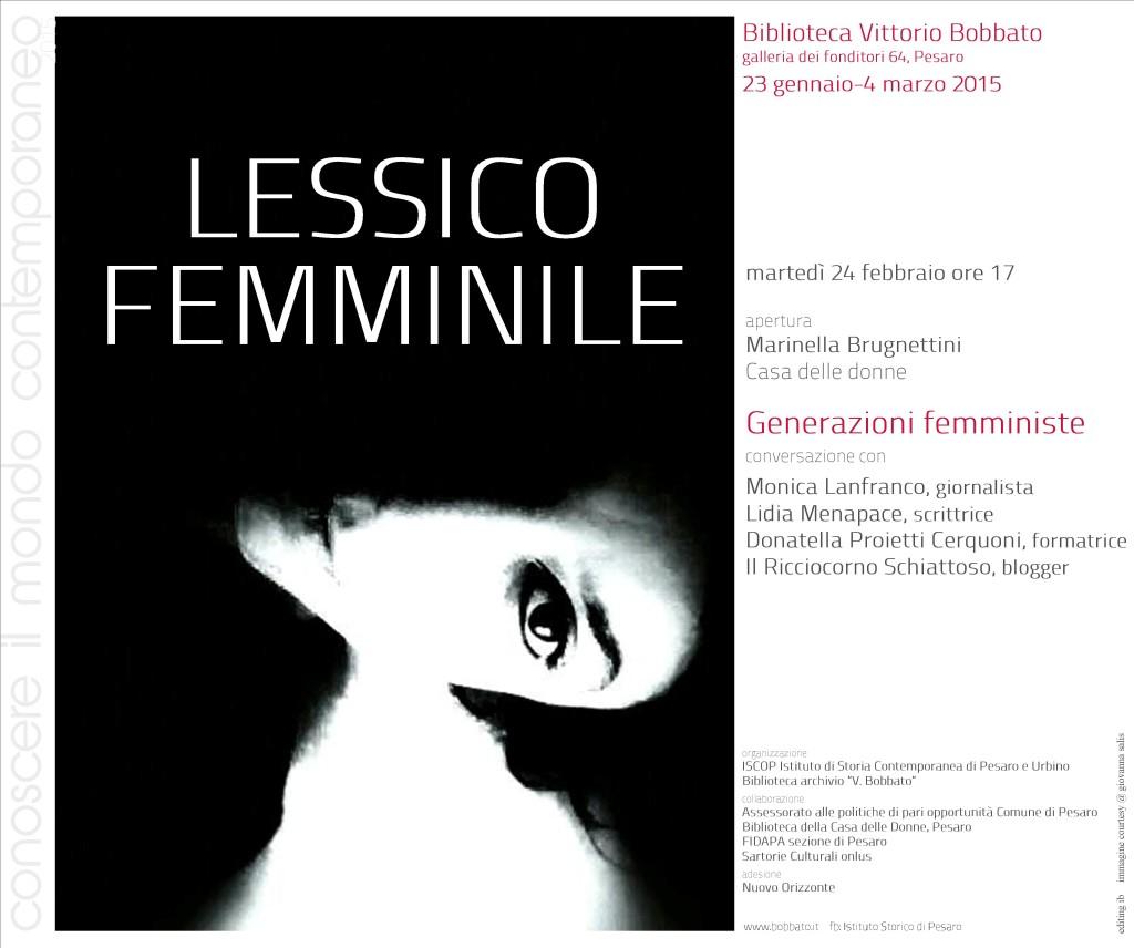 II incontro Lessico femminile 24.02.2015