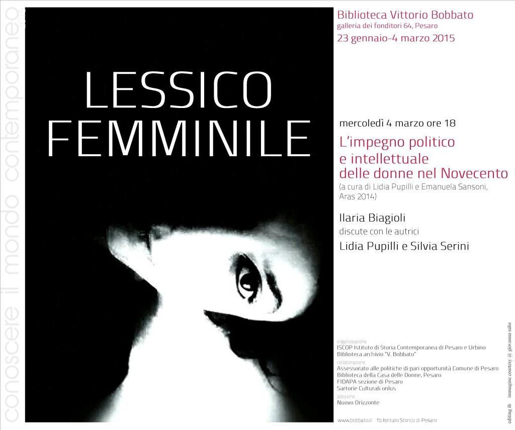 III incontro Lessico femminile 04.03.2015