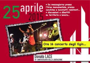 Donato Lace 25 aprile 1