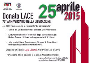 Donato Lace 25 aprile