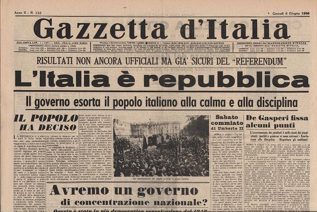 """""""Gazzetta d'Italia""""_ 6 giugno 1946_AILSREC"""