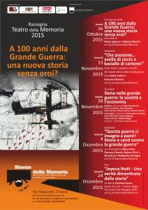 Teatro della memoria Calendario 2015