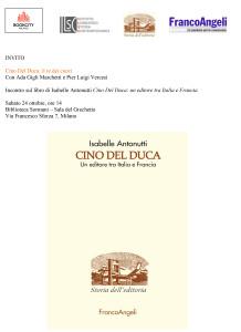 Cino del Duca: incontro sul libro di Isabelle Antonutti