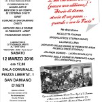 volantino 12 marzo 2016 - E NOI CHE SIAMO DONNE -  FASANO - ELLENA - BONINO - SCAGLIOTTI