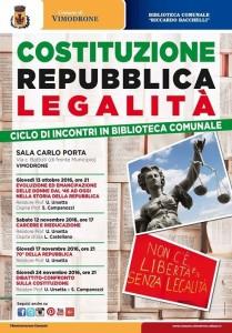 Ciclo incontri Costituzione, Repubblica Legalità