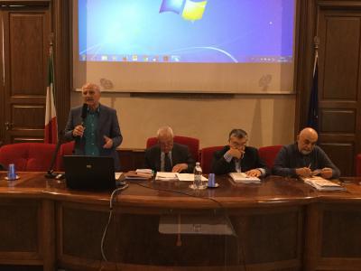 Da sinistra a destra: Rosario Mangiameli, Alberto De Bernardi, Giuseppe Barone, Antonio Brusa